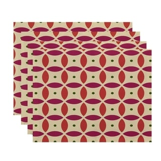 Abstract Geometric Print Table Top Placemat (Set of 4)