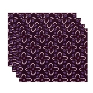 Geometric Multi Floral Print Table Top Placemat (Set of 4)