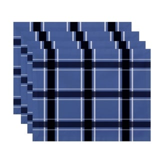 Geometric Large Plaid Print Table Top Placemat (Set of 4)