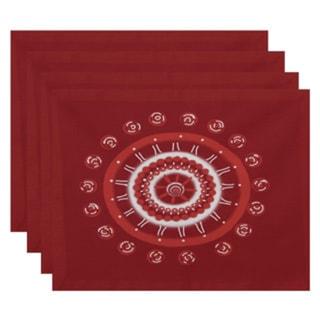 Geometric Spiral Burst Print Table Top Placemat (Set of 4)