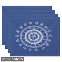 Geometric Spiral Burst Print Table Top Placemat (Set of 4)