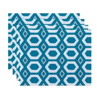 Honeycomb Print Table Top Placemat (Set of 4)
