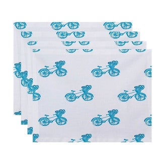 Novelty Bicycle Print Table Top Placemat (Set of 4)