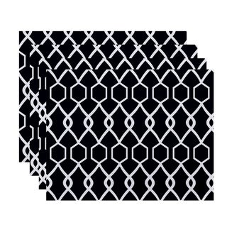 Geometric Trellis Print Table Top Placemat (Set of 4)