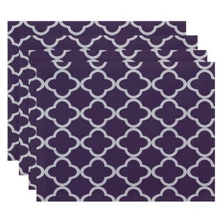 Geometric Morrocan Print Table Top Placemat (Set of 4)
