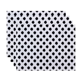 Static Polka-dot Geometric Print Table Top Placemat (Set of 4)