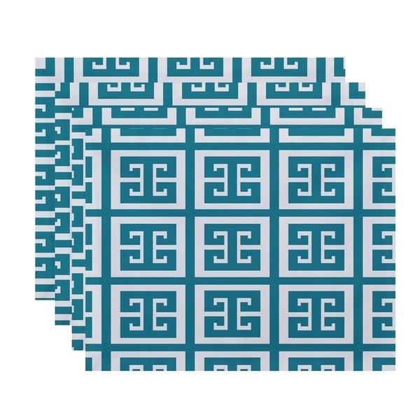 Geometric Greek Key Print Table Top Placemat (Set of 4)