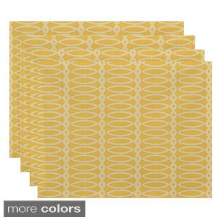 Geometric Oval Print Table Top Placemat (Set of 4)