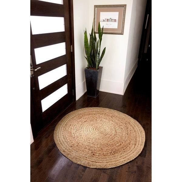 Anji Mountain Kerala Oval Jute Rug in Natural
