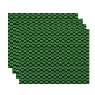 Geometric Small Checkered Print Table Top Placemat (Set of 4)