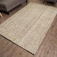 Jani Sandscape Natural Jute Handwoven Rug (8'x 10')
