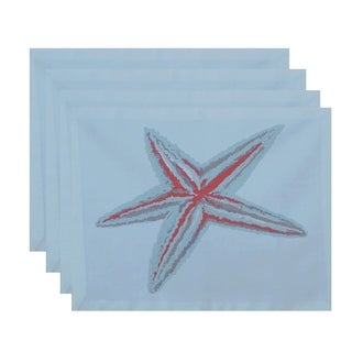 Star Fish Coastal Print Table Top Placemat (Set of 4)