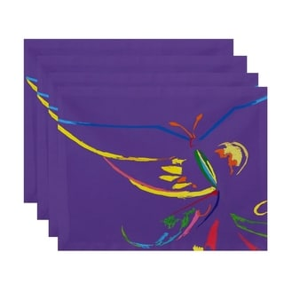 Abstract Butterfly Print Table Top Placemat (Set of 4)