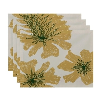Tri Floral Print Table Top Placemat (Set of 4)