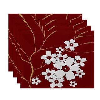 Floral Branch Print Table Top Placemat (Set of 4)