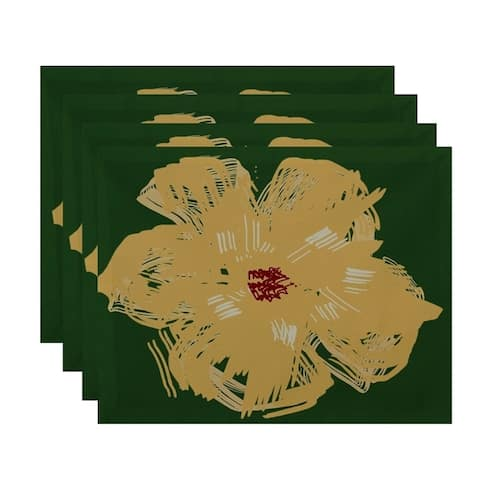 Large Floral Print Table Top Placemat (Set of 4)
