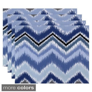Tribal Chevron Stripe Print Table Top Placemat (Set of 4)