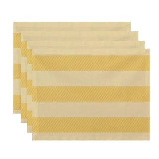 Two-tone Stripe Print Table Top Placemat (Set of 4)