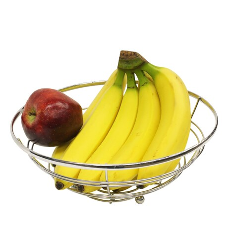 Sweet Home Collection Modern Rust Resistant Chrome Fruit Bowl