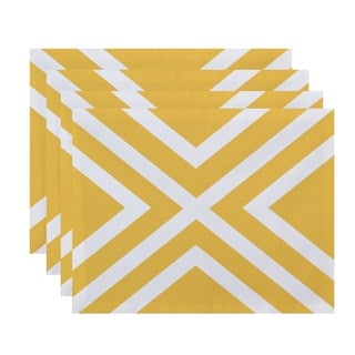 X' Stripe Print Table Top Placemat (Set of 4)