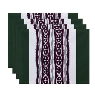 Mixed Tribal Stripe Print Table Top Placemat (Set of 4)