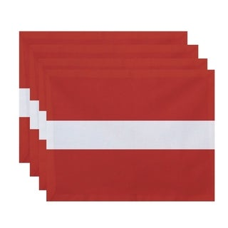Single Stripe Print Table Top Placemat (Set of 4)