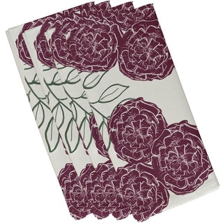 Tri Floral Print 19-inch Table Top Napkin