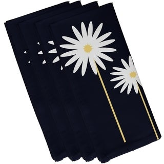 Floral Daisies Print 19-inch Table Top Napkin