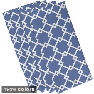 Large Geometric Trellis Print 19-inch Table Top Napkin