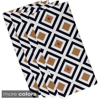 Diamond Geometric Print 19-inch Table Top Napkin
