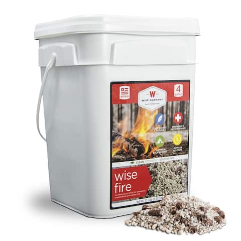 Wise Company WiseFire Starter (4 Gallons) - Black - 10x10x8