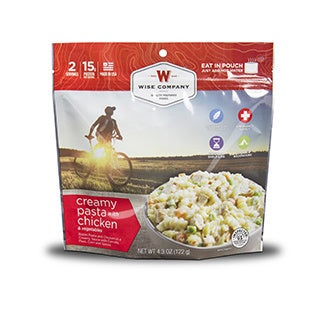 Wise Company Outdoor Creamy Pasta and Vegetables with Chicken