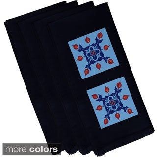 Geometric Floral Print 19-inch Table Top Napkin