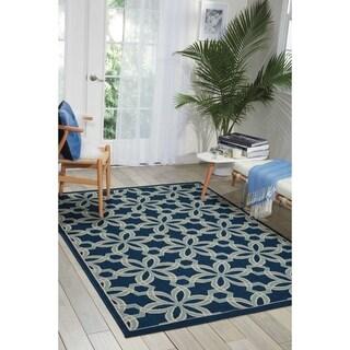 Nourison Caribbean Indoor/Outdoor Navy Rug (9'3 x 12'9)