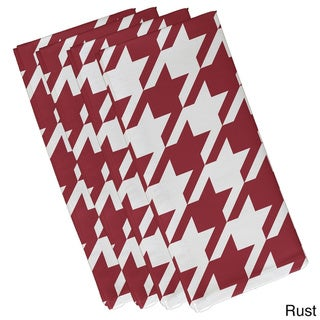 Geometric Houndstooth Print 19-inch Table Top Napkin