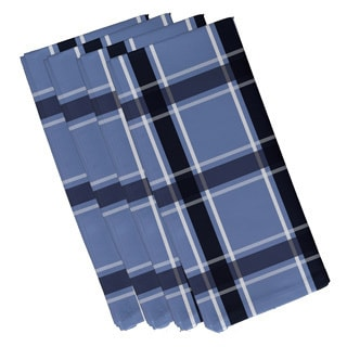 Geometric Large Plaid Print 19-inch Table Top Napkin