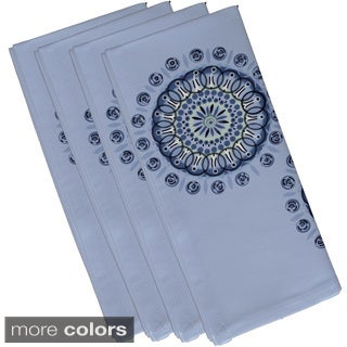 Geometric Dual Spiral Burst Print 19-inch Table Top Napkin