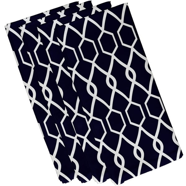 Geometric Trellis Print 19-inch Table Top Napkin