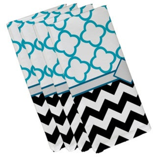 Mixed Moroccan and Chevron Geometric Print 19-inch Table Top Napkin