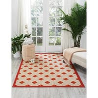 Nourison Aloha Indoor/Outdoor Red Rug - 7'10 x 10'6