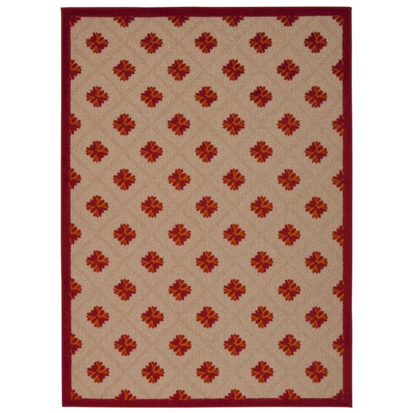 Nourison Aloha Indoor/Outdoor Red Rug
