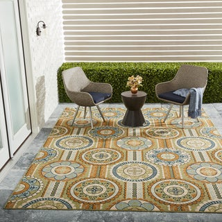 Nourison Caribbean Indoor/Outdoor Yellow Rug