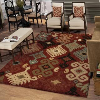 Carolina Weavers Wild Weave Collection Chandra Rouge Area Rug (3'11 x 5'5)