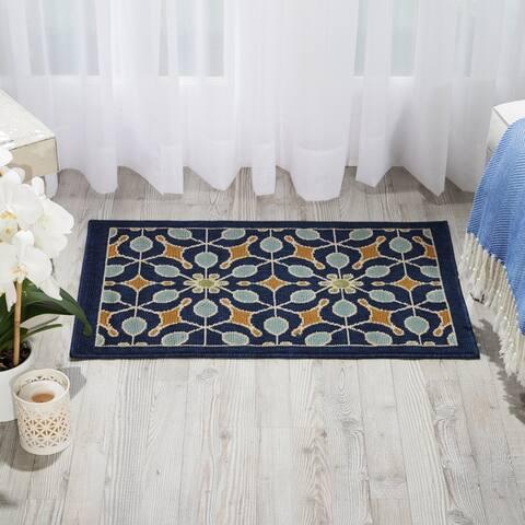Nourison Caribbean Floral Print Indoor/Outdoor Area Rug