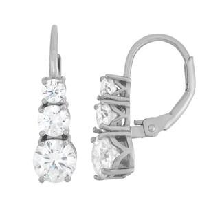 Gioelli Sterling Silver Journey-style Leverback Dangle Earrings