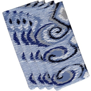 Geometric Swirl Print 19-inch Table Top Napkin