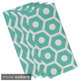 Geometric Honeycomb Print 19-inch Table Top Napkin