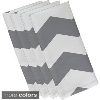Two-tone Chevron Geometric Print 19-inch Table Top Napkin