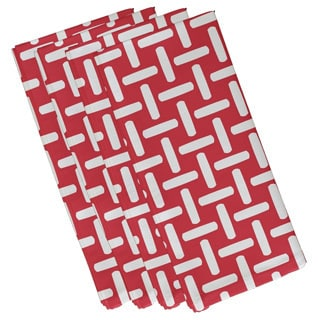 Geometric Basket Weave Print 19-inch Table Top Napkin
