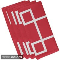 Geometric Square Print 19-inch Table Top Napkin